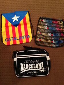 3 bags from Spain -NEW - Barcelona Messenger Bag - Great gifts