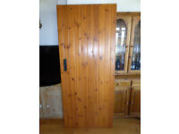 5 pine ledge & brace doors inc. iron fittings vgc. £25 each