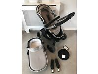 icandy grey baby stroller pram excellent condition