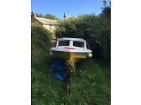 Shetland 535 boat, trailer and non running Evinrude Big Twin 40hp engine