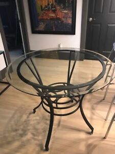 """Bowring 36"""" glass table condo size"""
