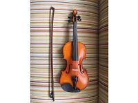 1/2 size Westbury violin for sale