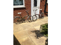 Raleigh Stawaway - Foldable Bicycles x2