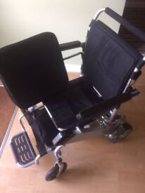 Brand new never used Powered Wheelchair. Easy to fold/unfold. No packaging but does include manual