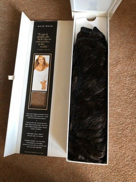 Raquel Welch 18quot 10 Piece Human Hair Clip In Extensions Dark
