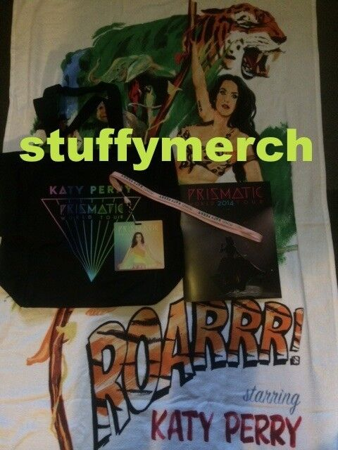 KATY PERRY RARE Prismatic Tour VIP Package : Book Towel Bag Lanyard Pass SMILE
