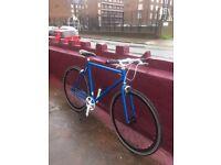 NO LOGO Fixie/single speed 53cm/20 inch frame blue bike for men/ladies