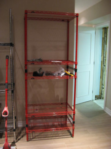 Metro Wire shelving-Various sizes-Chrome, black, red and white