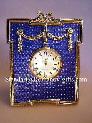 Russian Imperial Empress Alexandra Chamford Presentation Clock & case, used for sale  Highlands