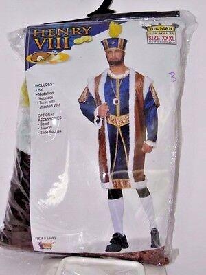 Henry Viii Halloween Costume (Size XXXL Men's Henry VIII King Renaissance Cosplay Halloween Costume Party)