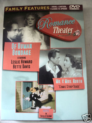 Of Human Bondage Leslie Howard/Mr & Mrs North/Popeye Cartoon (DVD) Cardboard box