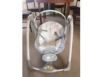 Ingenuity Baby Swing Seat Portable with melodies