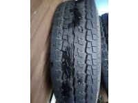 2 brand new 195/70/15c tyres on transit rims