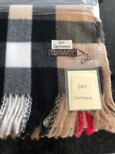 Brand new with tags sky cashmere scarf measures 26x76