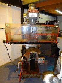 XYZ KRV PRO 3000 - 2 AXIS CNC TURRET MILLING MACHINE YEAR 1994
