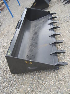 "Brand New 78"" Skid Steer Tooth Bucket"