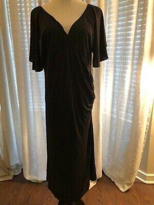 Ralph Lauren Woman 2X Silk Black Dress New With Tags