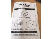 Vent Axia ventilation Fan