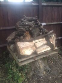 Bulk bag size of oak large logs, dried for 3 years