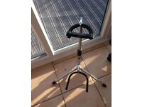 xcg chrome and black guitar stand, gibson , fender etc works with all guitars, amazing stand