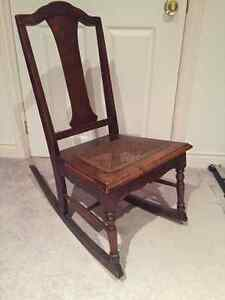 Reduced price!  Antique Oak Rocking Chair - Beautiful!