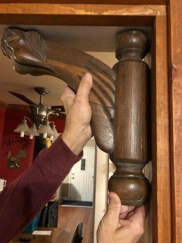 Set of 2 Vintage  / Antique Wood Corbels