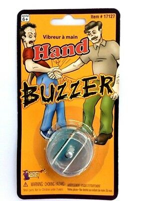 New HAND JOY BUZZER Joke Prank Gag Shock Magic Tricks Shake Buzz Metal Toy -