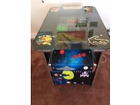 Free play retro table arcade game console