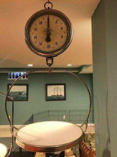 """Antique Vintage Chatillon 60lb 10"""" Hanging Scale"""