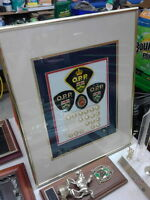 Framed Display of OPP Patches and buttons