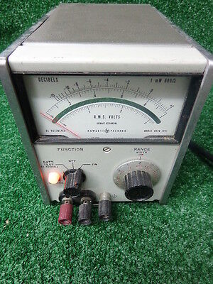Hp Vintage Hewlett Packard 403b Decibel Ac Voltmeter Test Equipment Free Ship