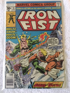 IRON FIST #14 comic book - 1st appear. of SABRE-TOOTH - KEY !