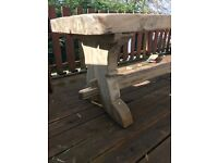 Solid, real wood dining ,garden table