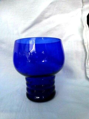 "Vintage Imperial Glass Shaeffer 3 3/4"" Cobalt 10oz Flat Tumbler Excel Used Cond"
