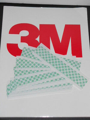 3m 9589 Double Stick White Polyester Film Tape 12 Strips 1x6 Free Ship