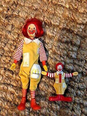 "1976 Remco 8"" Ronald McDonald Action Figure Vintage Doll Head Moves / with bonus"