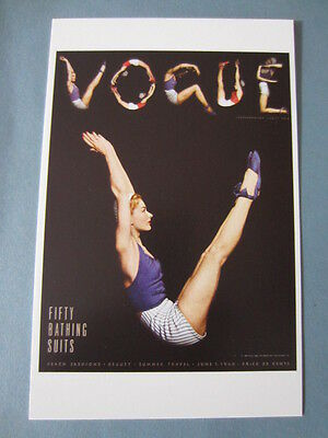 MINT POSTCARD VOGUE COVER HORST P. HORST JUNE 1 1940