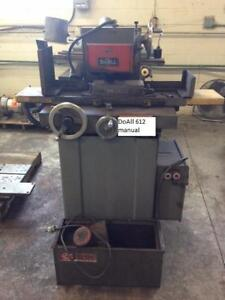 DoAll 6in x 12 in hydraulic surface grinder, c/w mag chuck, coolant, 575 volt 3 phase electrics.