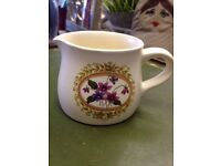 EXC *PURBECK SWANAGE CREAMER JUG* Pretty Lilac Flowers Vintage Collectable