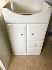 Small bathroom under sink unit