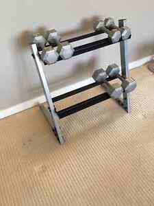New Weight Rack (January 2017) and Dumbbells