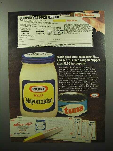 1980 Kraft Mayonnaise Ad - Make Tuna Taste Terrific