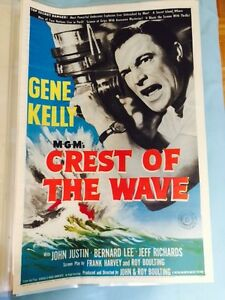 Vintage 1950's Theater Poster - Gene Kelly – Crest Of The Wave