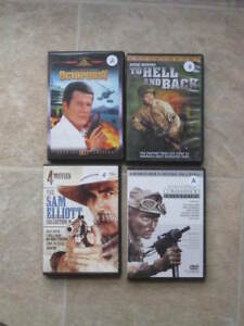 Lot 24 films DVD - ANGLAIS - James Bond, western, guerre, etc