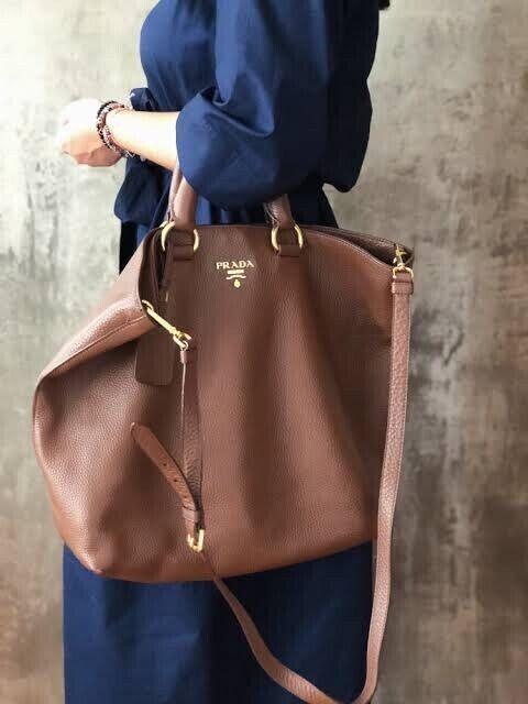 08a330902221c3 Authentic PRADA leather Vitello Daino Gold tote Palissandro | Bags ...