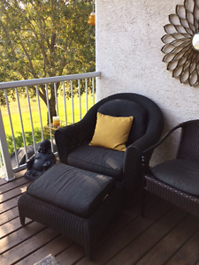 Arm Chair and Footstool