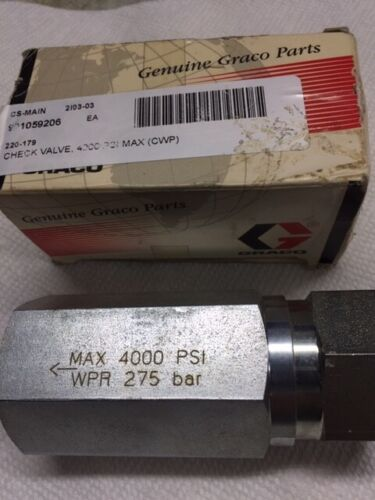 Graco 220179 Stainless Check Valve 3/4 inch NPT