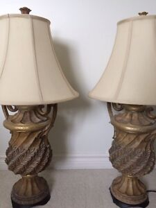 Set of two large table lamps