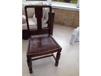 Set of 4 Dark Wood Dining Chairs - Great for Xmas guests