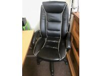 Office Desk, quality comfortable swivel chair and filing cabinet
